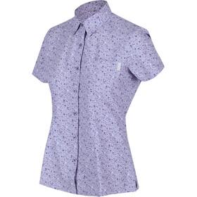 Regatta Mindano V Maglietta a maniche corte Donna, viola/bianco